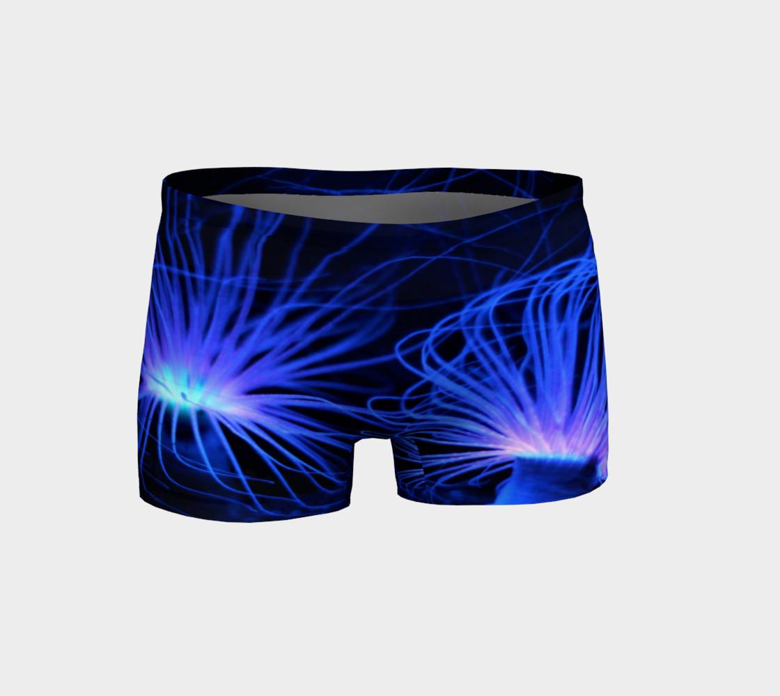 Black light Reactive Anemone Shorts preview #1