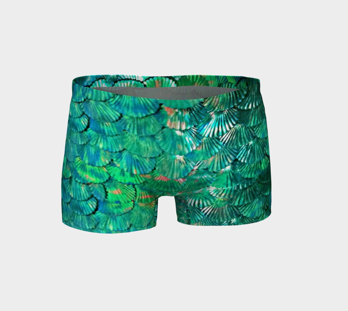 Green Mermaid Scale Shorts  preview #1