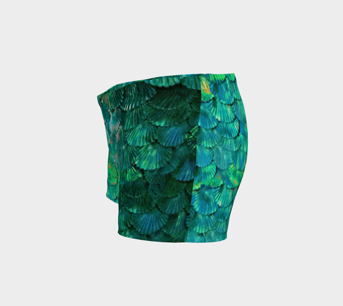 Green Mermaid Scale Shorts  preview #2