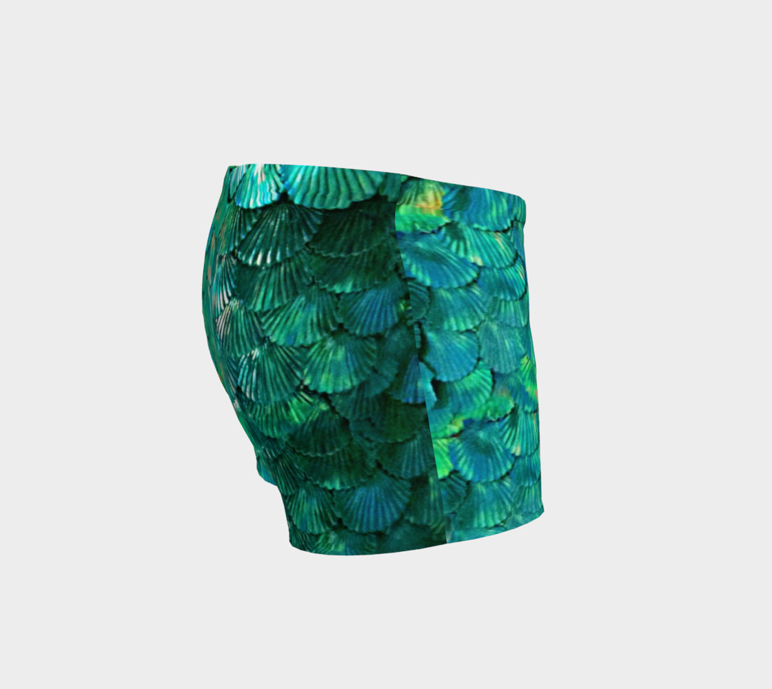 Green Mermaid Scale Shorts  preview #3