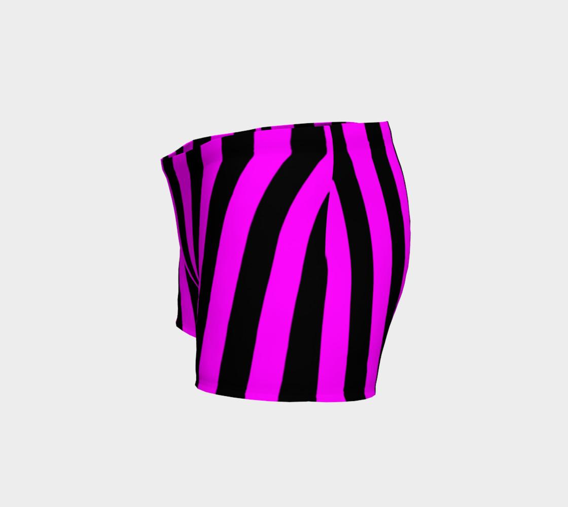 Aperçu de Black and Magenta Pink Stripes #2