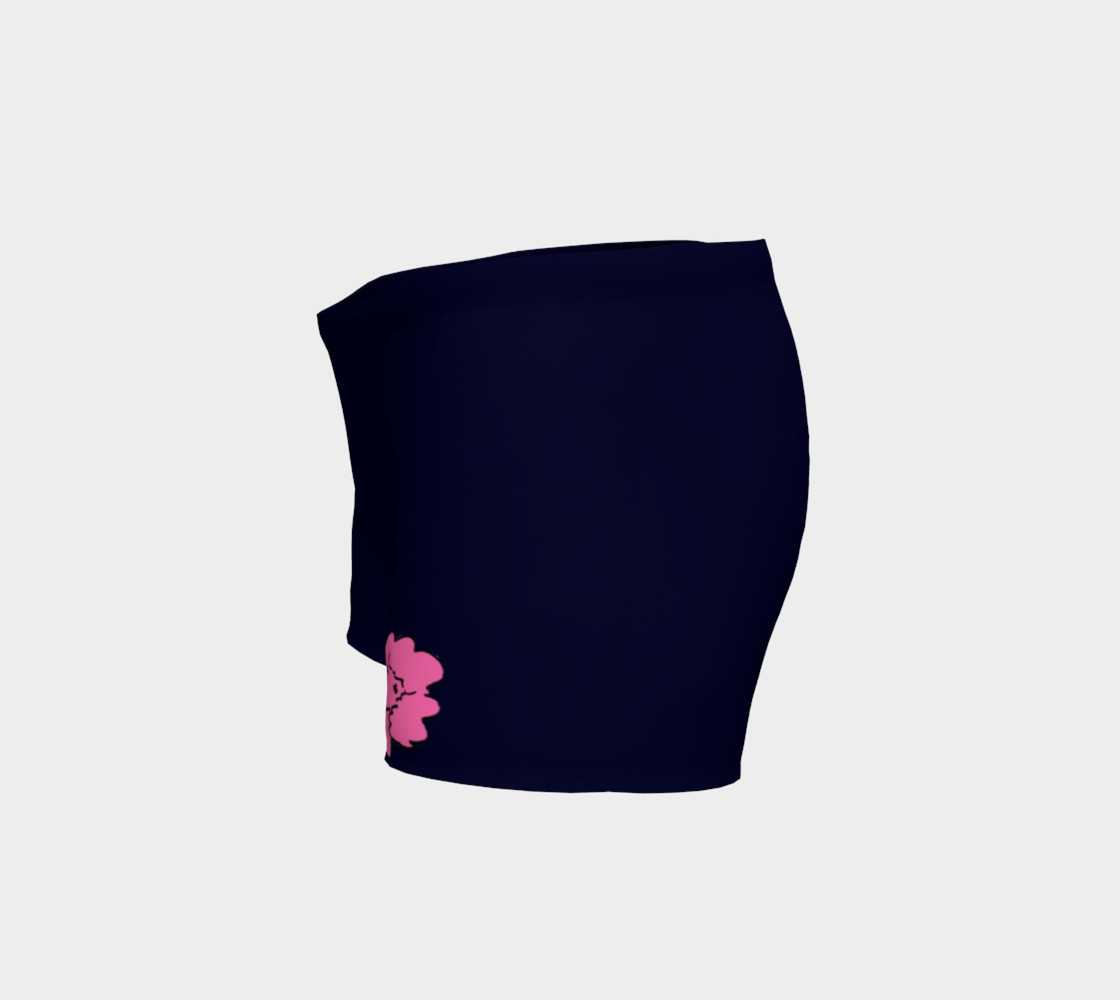 Navy and fushia poodle shorts preview #2