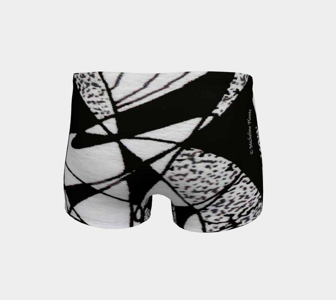 Aperçu de Shorts-Griffe Noir et blanc-micheline-plante #4