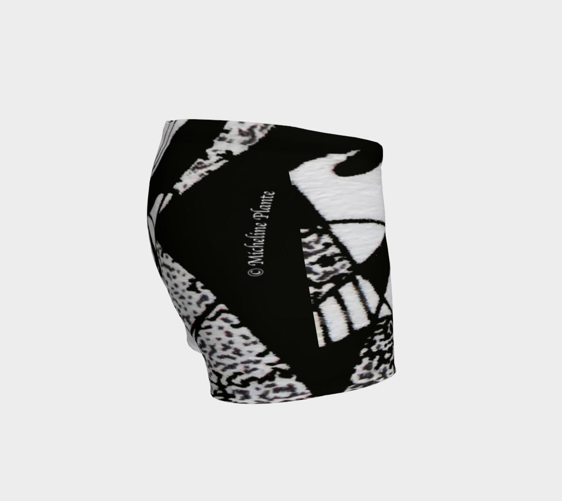 Aperçu de Shorts-Griffe Noir et blanc-micheline-plante #3