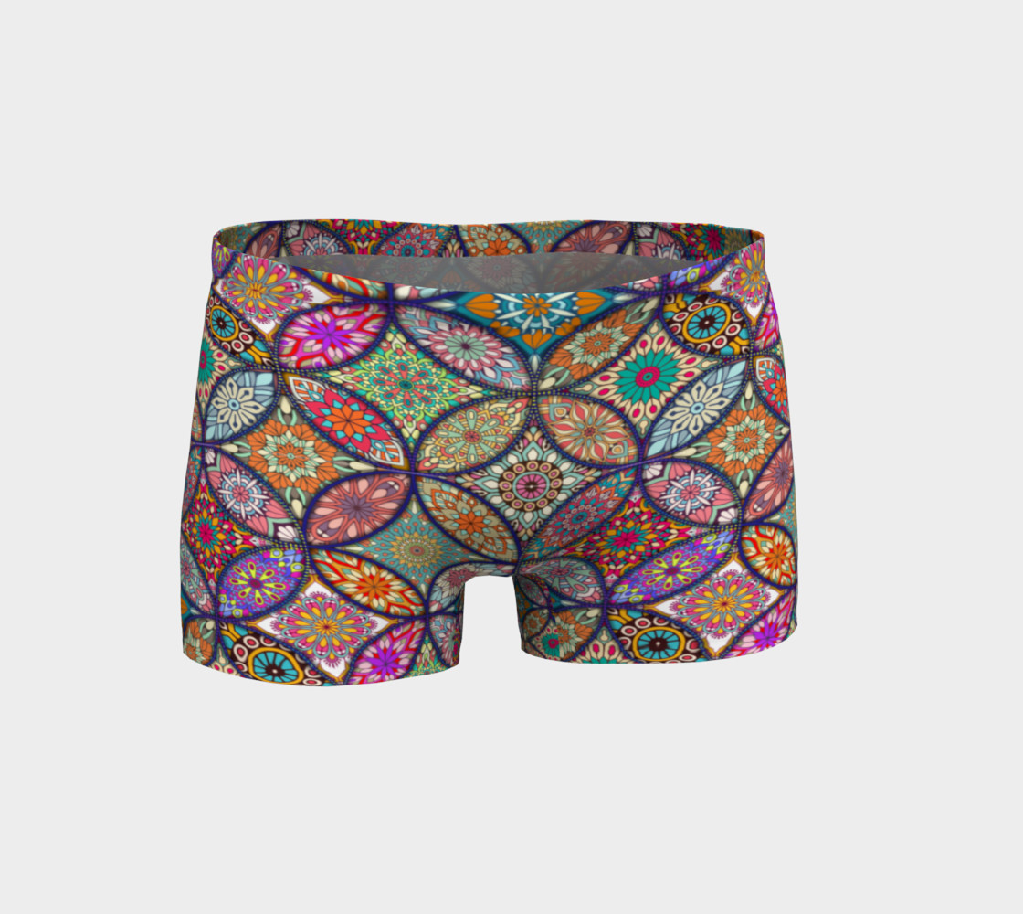 Vibrant Mandalas Shorts preview #1