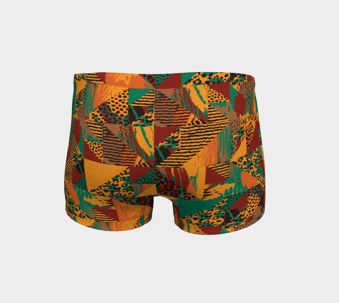 Abstract Safari Print Shorts preview #4