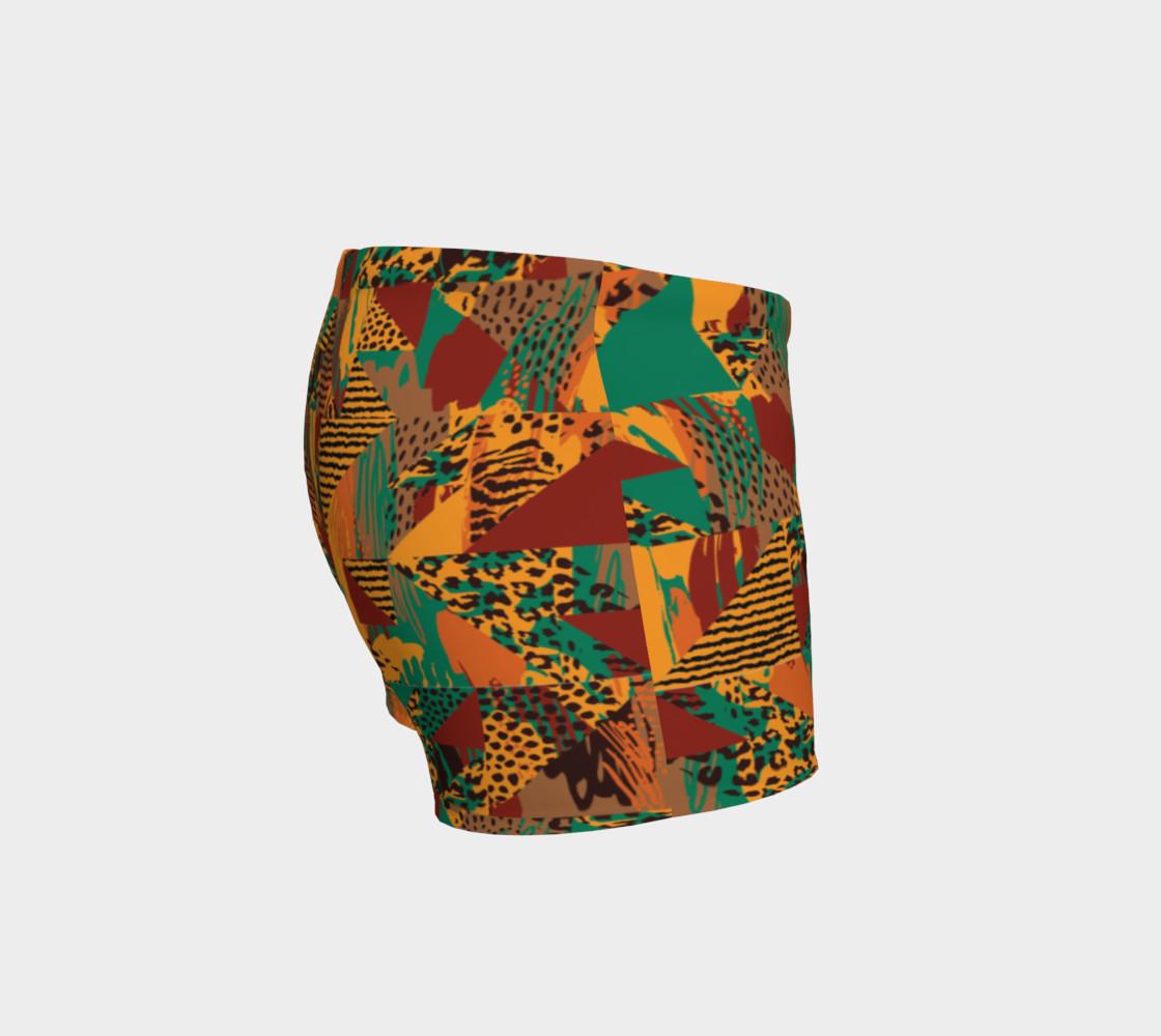 Abstract Safari Print Shorts preview #3