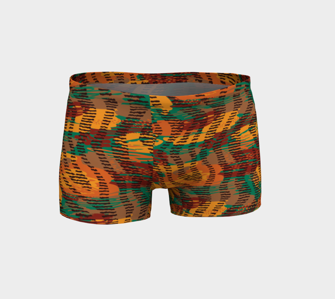 Abstract Animal Stripes Shorts preview #1
