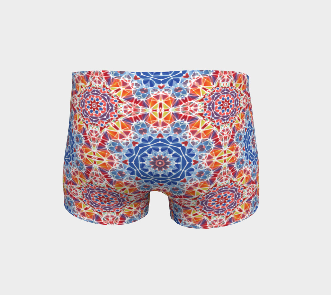 Blue and Orange Kaleidoscope Shorts preview #4