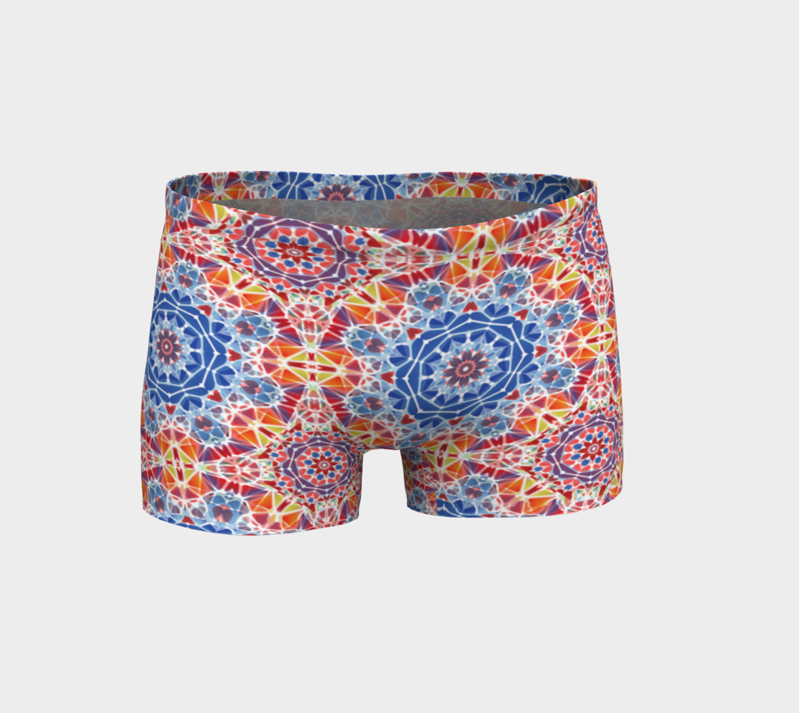 Blue and Orange Kaleidoscope Shorts preview #1