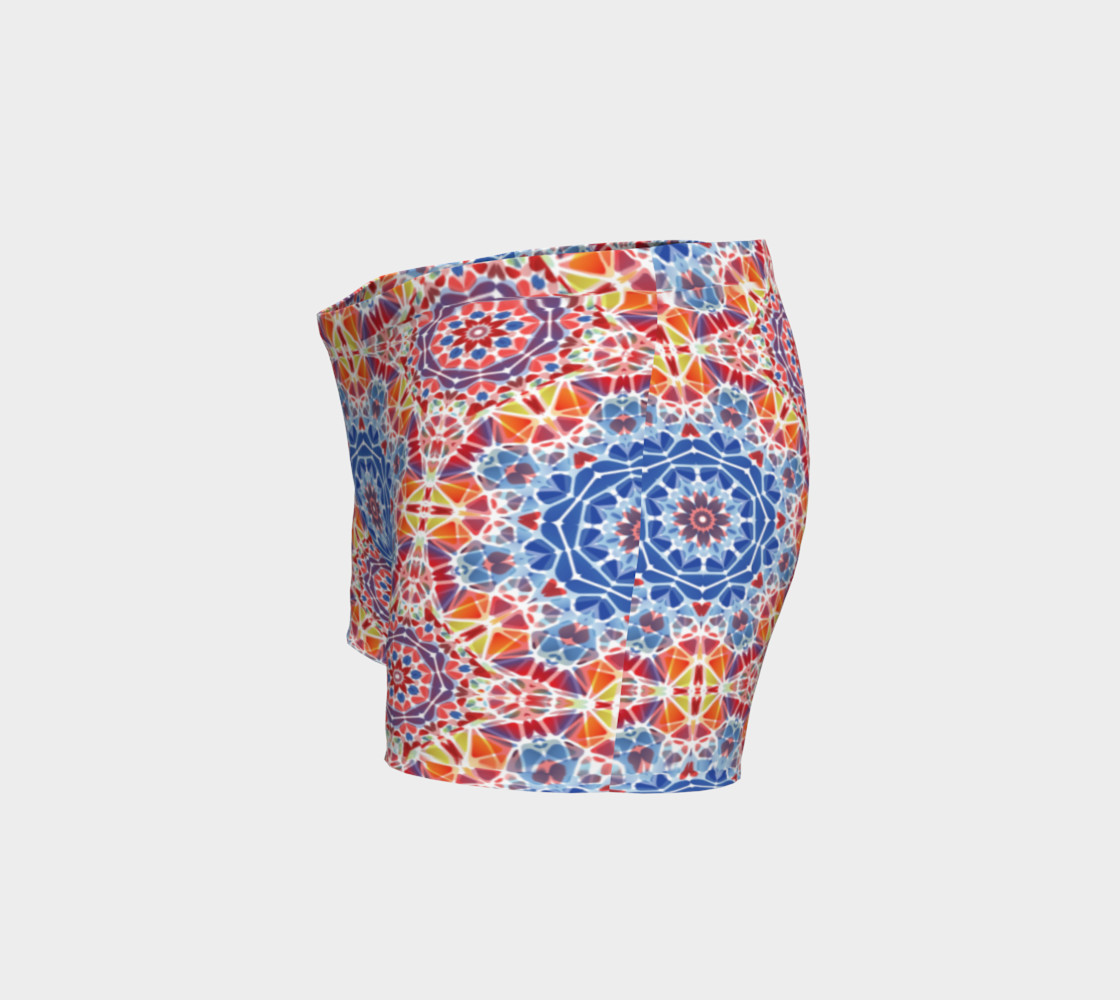 Blue and Orange Kaleidoscope Shorts preview #2