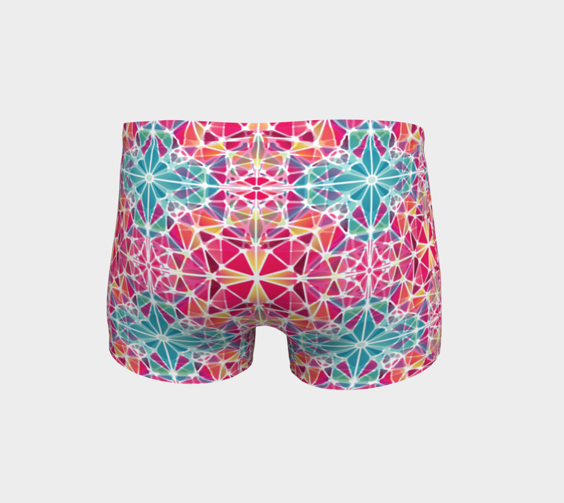 Pink and Blue Kaleidoscope Shorts preview #4