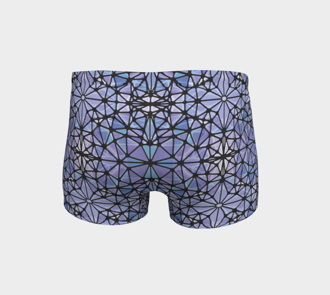 Purple and Blue Kaleidoscope Shorts preview #4
