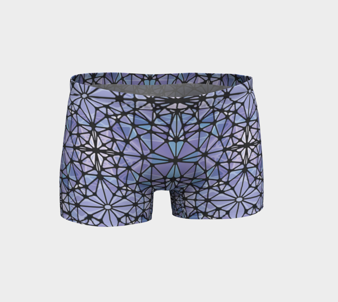 Purple and Blue Kaleidoscope Shorts preview #1