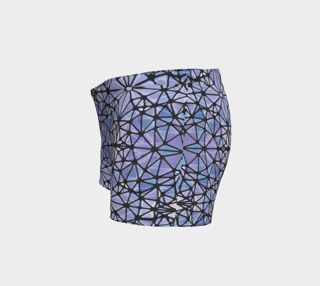 Purple and Blue Kaleidoscope Shorts preview #2