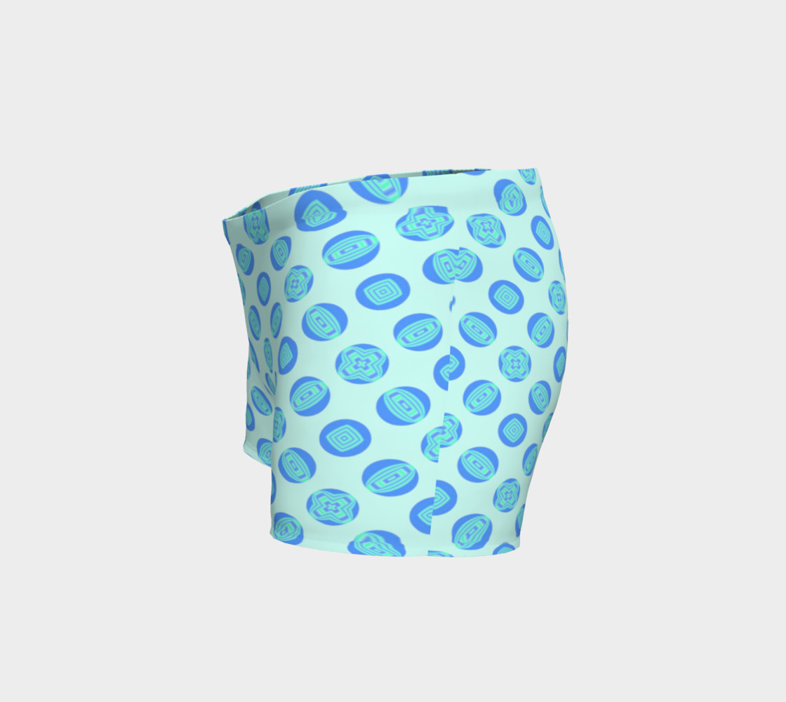 Retro Turquoise Blue Circles Pattern  thumbnail #3