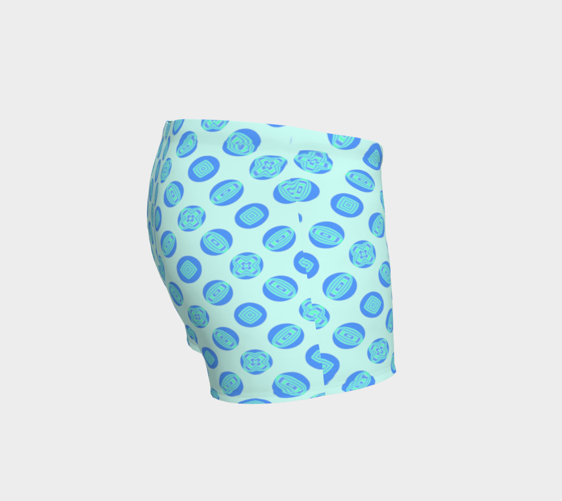 Retro Turquoise Blue Circles Pattern  preview #3