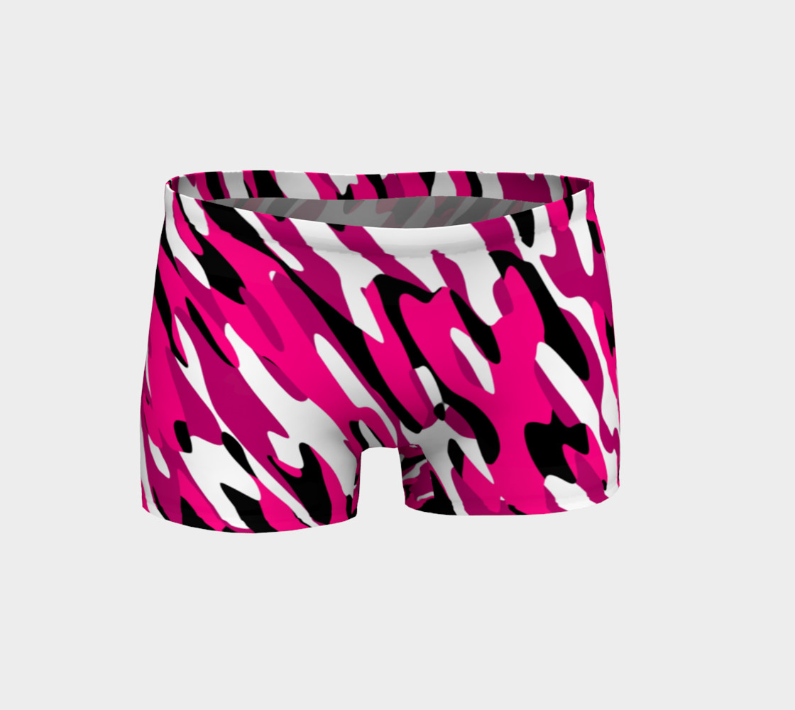 Aperçu de Pink white and black camo abstract #1