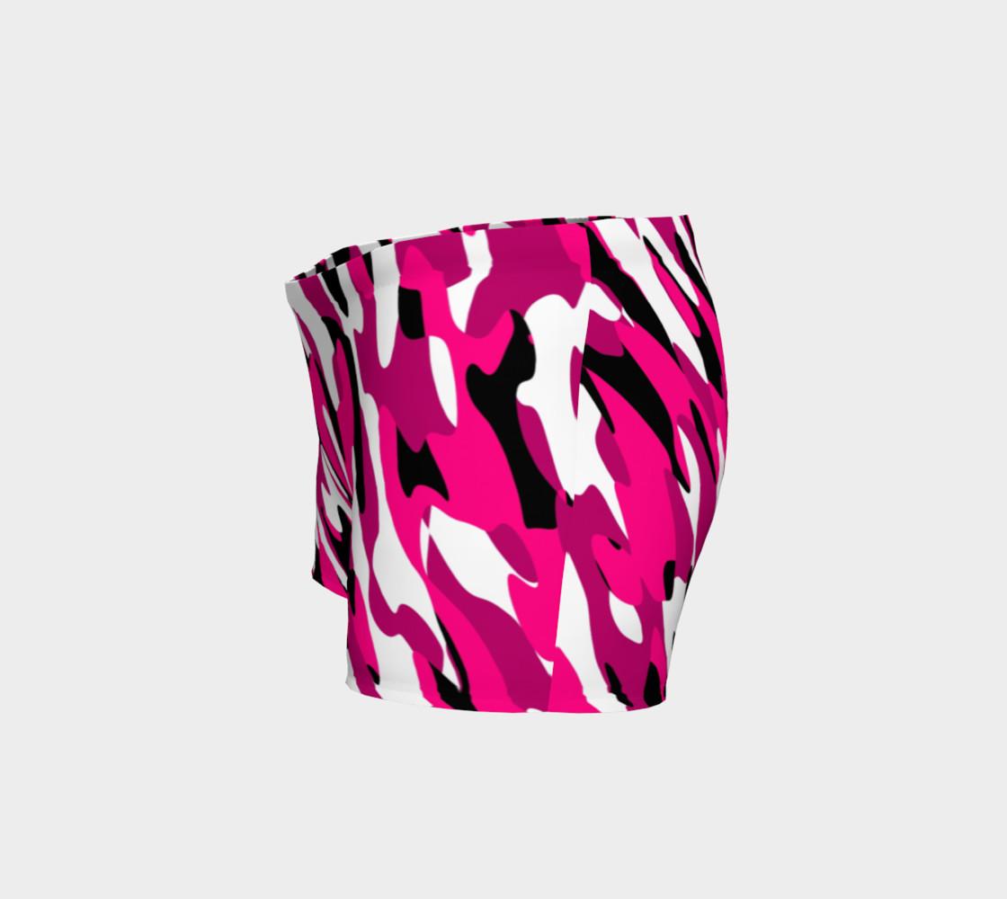 Aperçu de Pink white and black camo abstract #2
