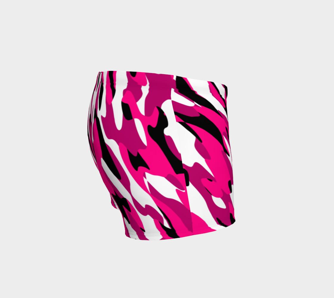 Aperçu de Pink white and black camo abstract #3