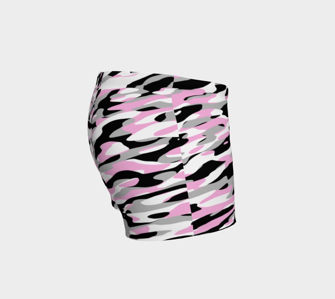 Aperçu de Pink Gray Black and White Camouflage #3