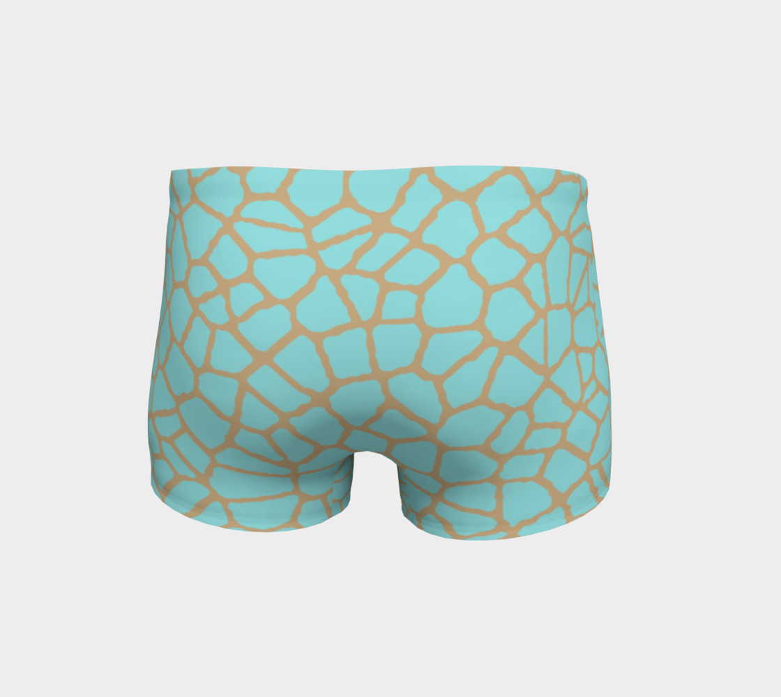 staklo (aqua/coffee) workout shorts preview #4
