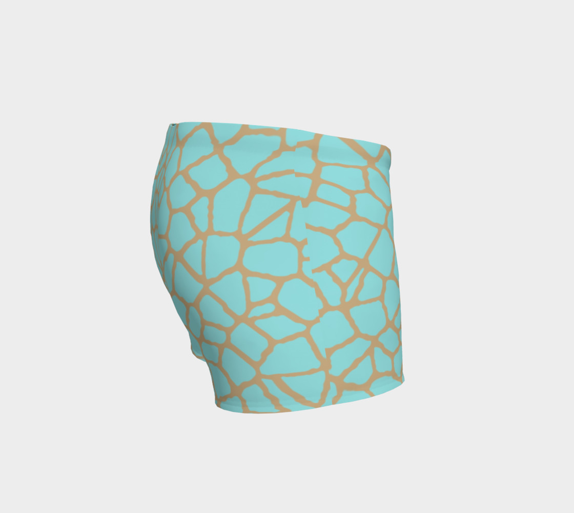 staklo (aqua/coffee) workout shorts preview #3