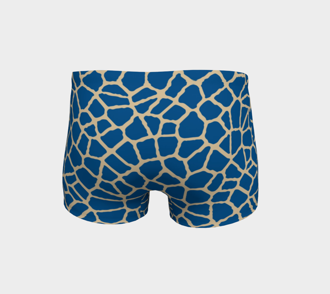 staklo (blue/coffee) workout shorts preview #4