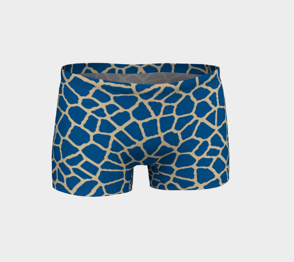 staklo (blue/coffee) workout shorts preview #1
