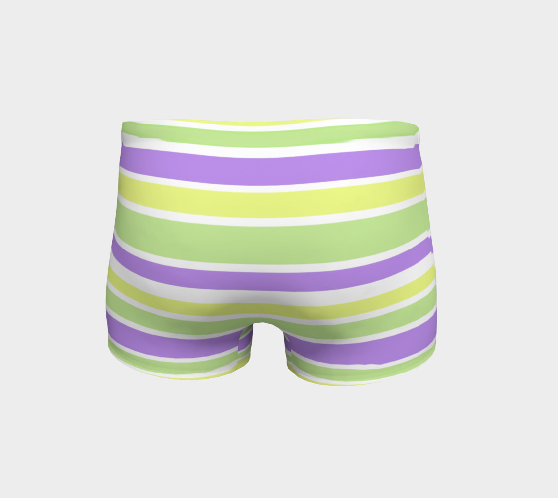 Bright Green Yellow Purple Stripes  preview #4