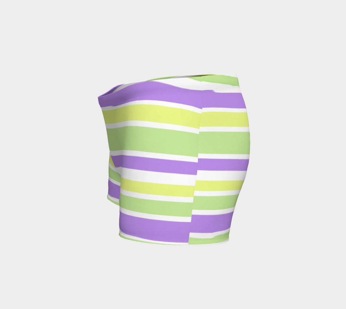 Bright Green Yellow Purple Stripes  preview #2