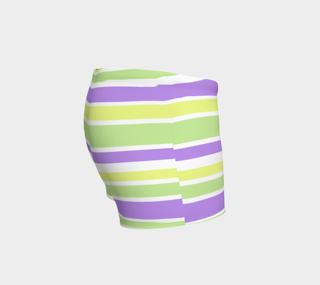 Bright Green Yellow Purple Stripes  preview #3