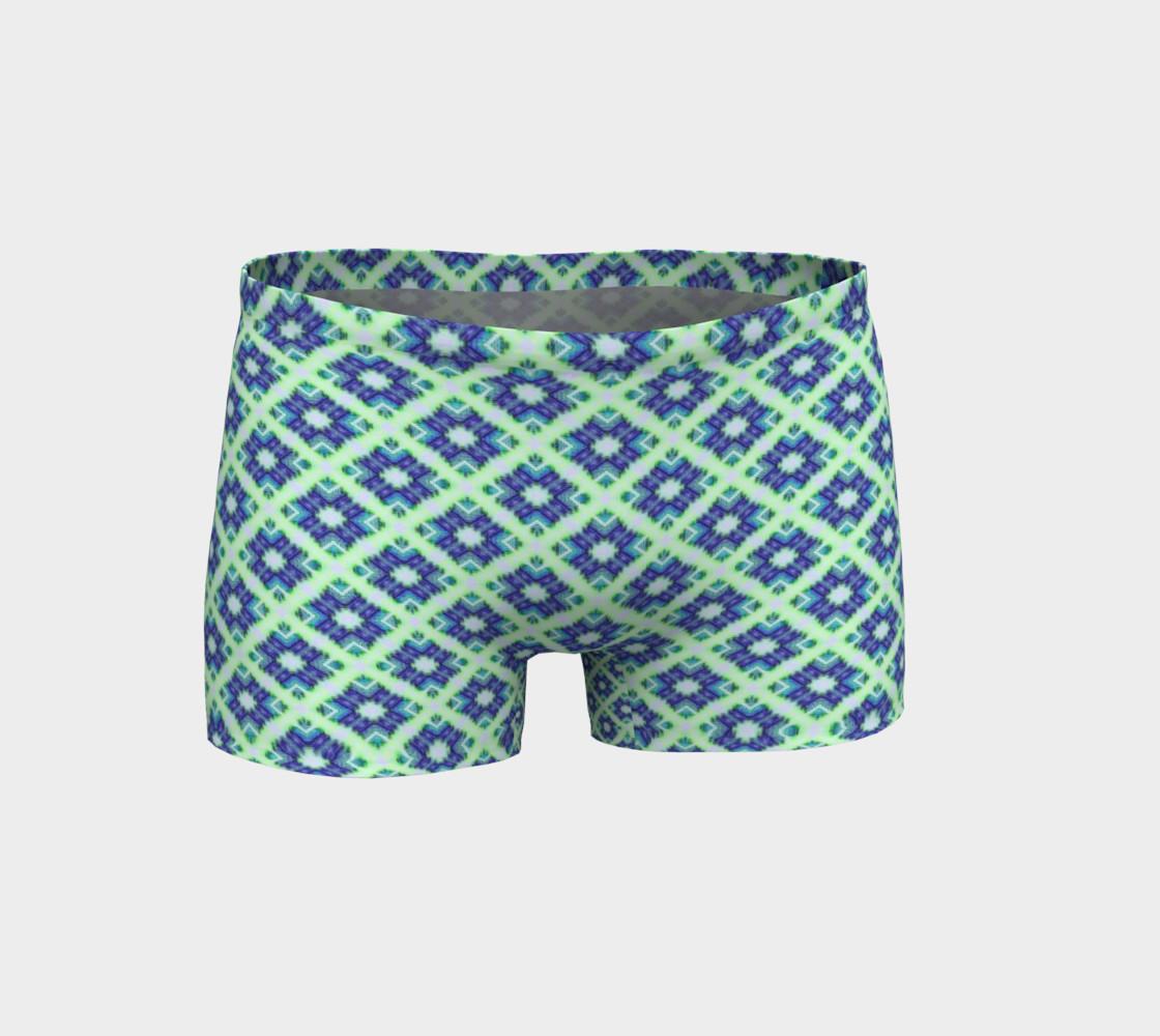 Blue Green Crisscross Pattern  preview #1