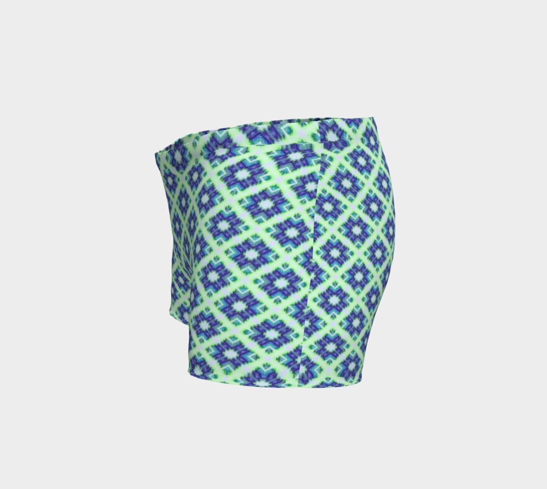 Blue Green Crisscross Pattern  preview #2