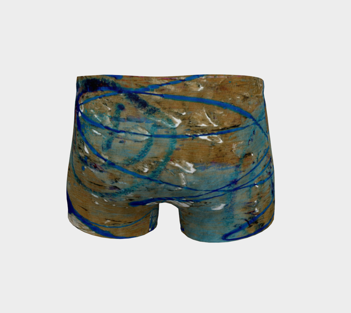 Blue Squiggle Workout Shorts preview #4