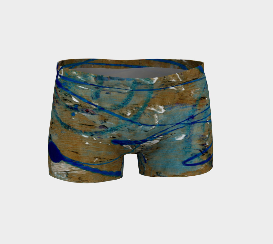 Blue Squiggle Workout Shorts preview #1