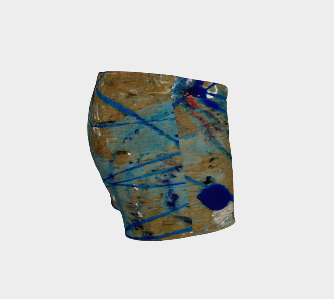 Blue Squiggle Workout Shorts preview #3