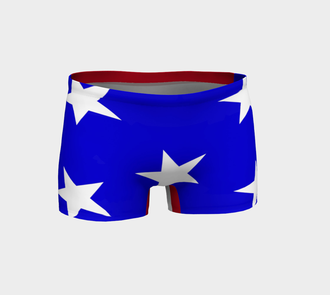 Stars and Stripes Gym Shorts Style2 Miniature #2
