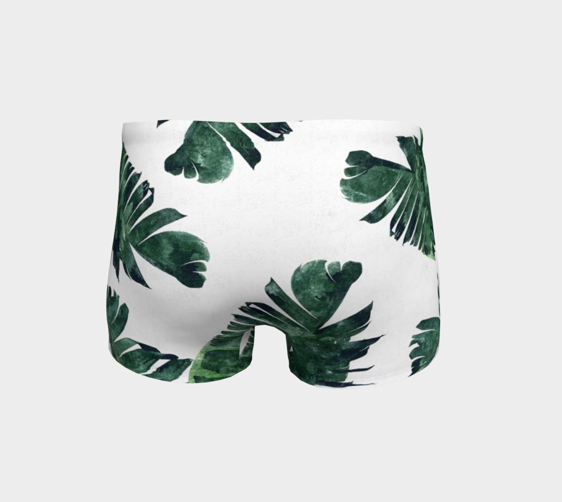 Aperçu de Banana Leaf Watercolor Pattern Shorts #4