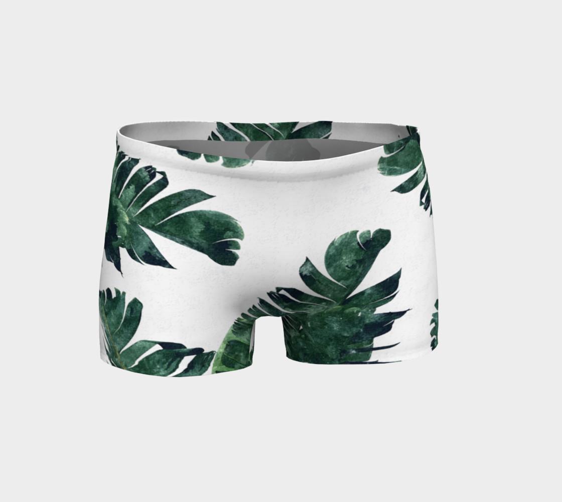 Aperçu de Banana Leaf Watercolor Pattern Shorts #1