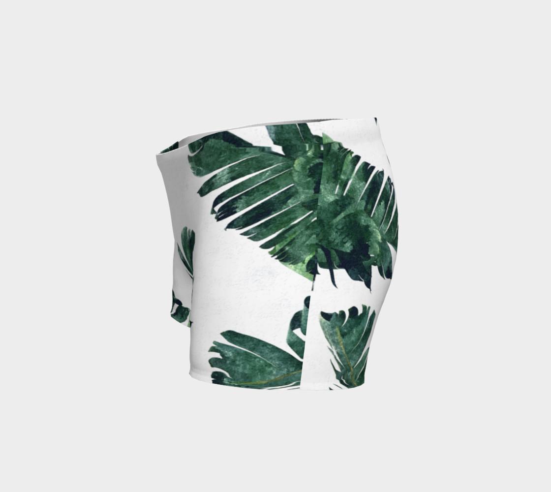 Aperçu de Banana Leaf Watercolor Pattern Shorts #2