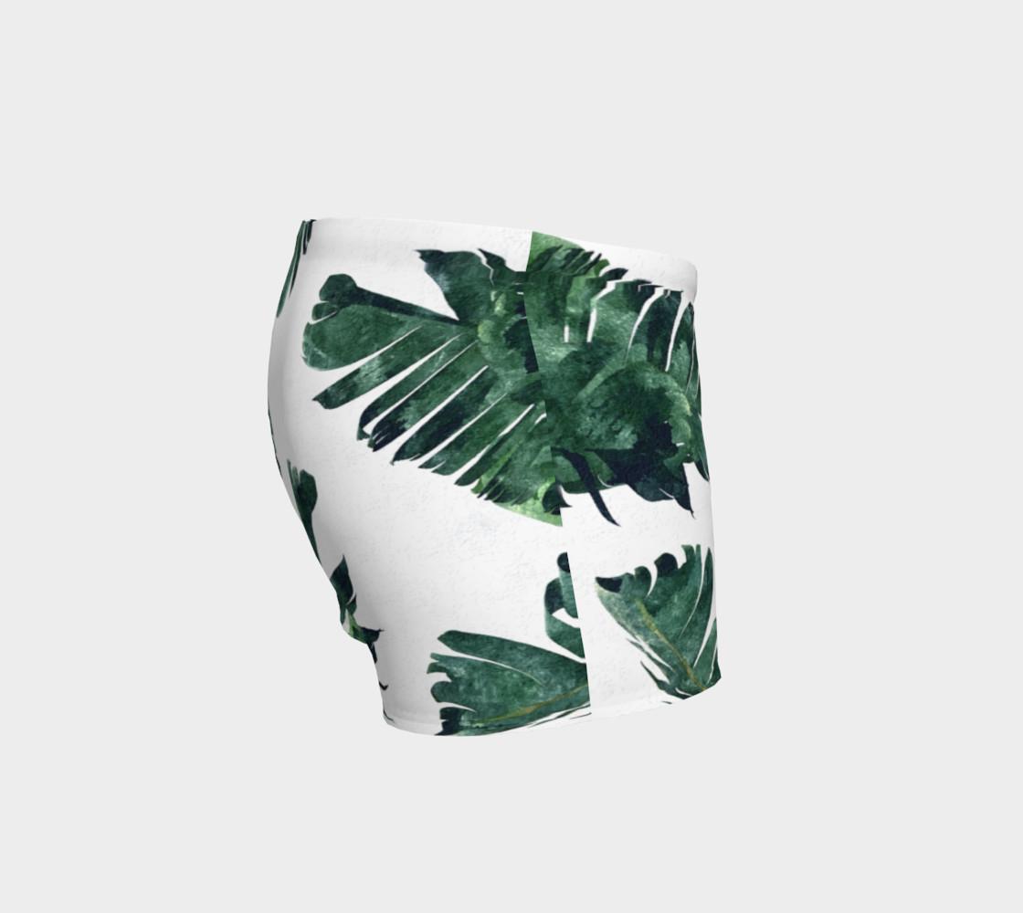 Aperçu de Banana Leaf Watercolor Pattern Shorts #3