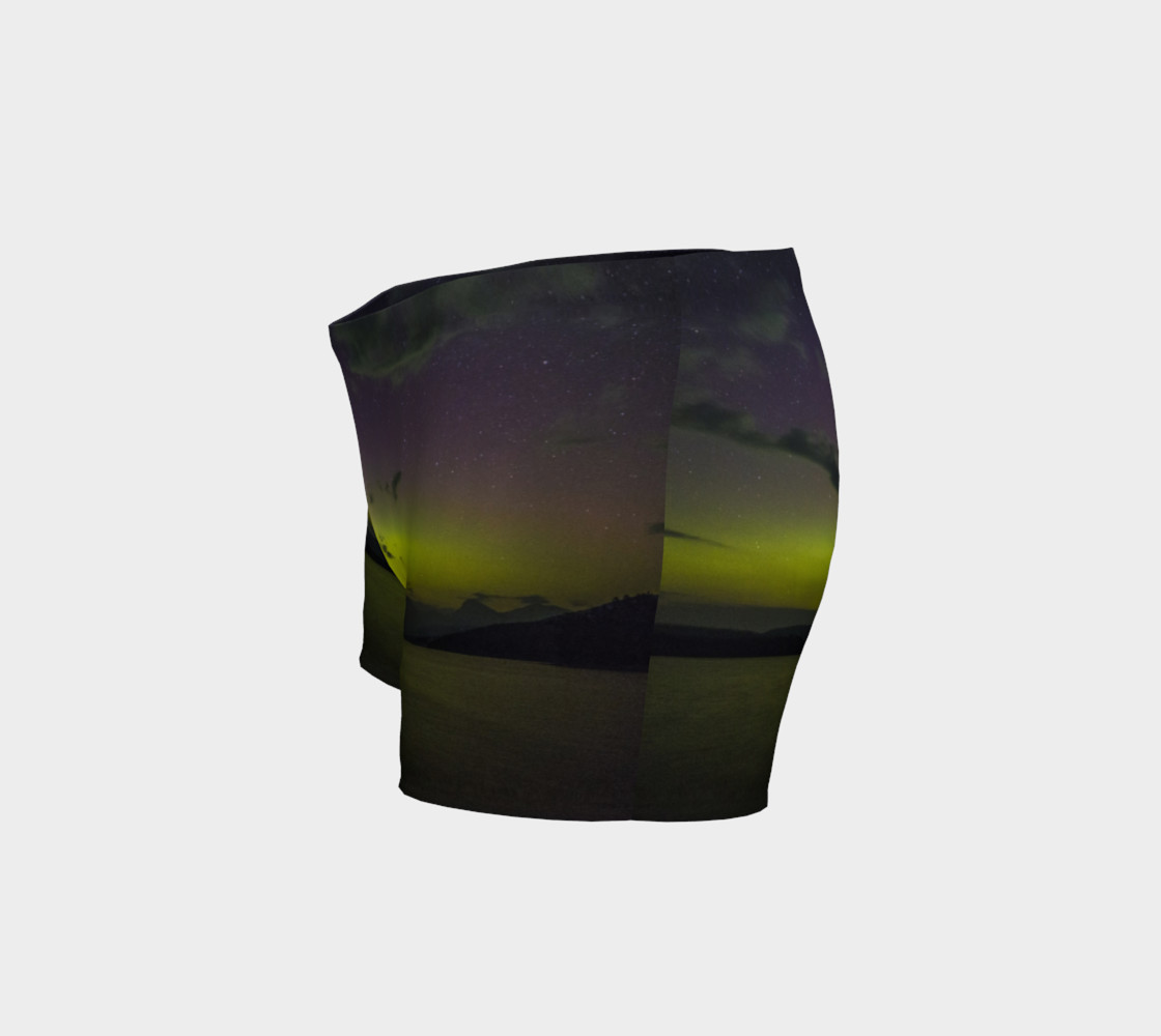 Yellow Sunset Northern Lights Shorts preview #2