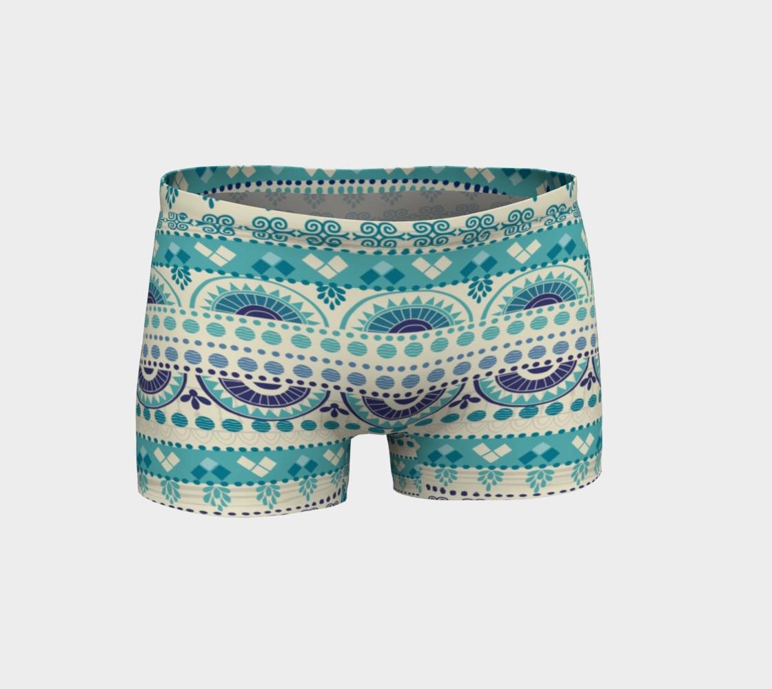 Aperçu de Tribal Mandala Gentle Peapod Print Shorts #1