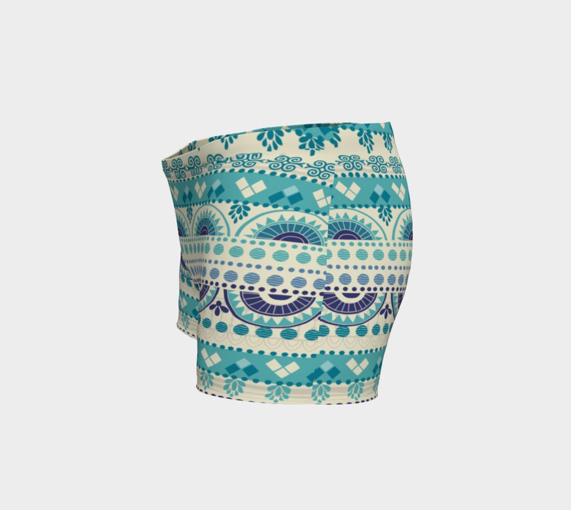 Aperçu de Tribal Mandala Gentle Peapod Print Shorts #2