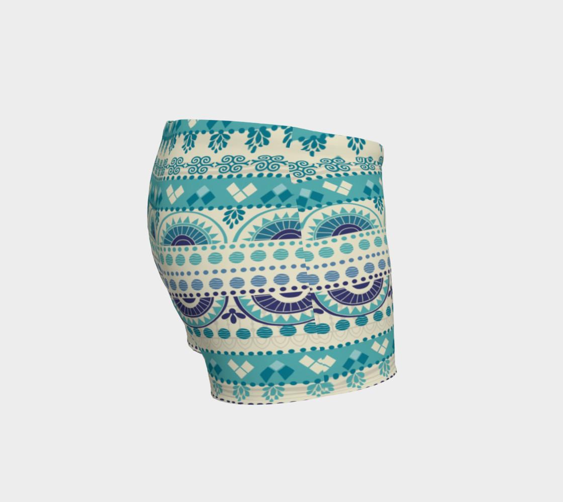 Aperçu de Tribal Mandala Gentle Peapod Print Shorts #3