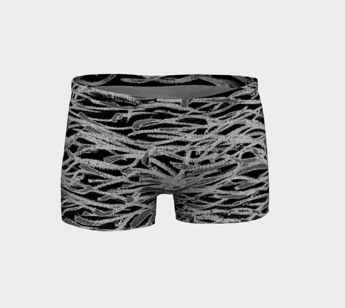 Black and White Abstract Lines Shorts preview #1