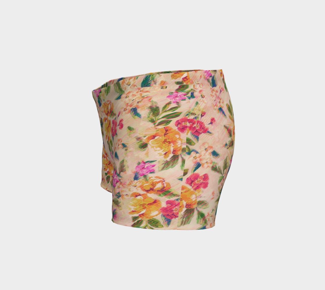 Golden Flitch (Digital Vintage Retro / Glitched Pastel Flowers - Floral design pattern) preview #2