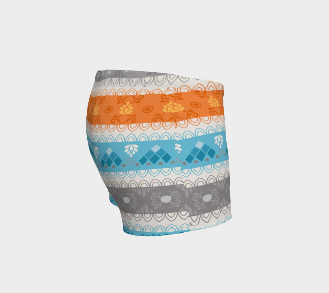 Tribal Soft Gray Stripes Shorts preview #3