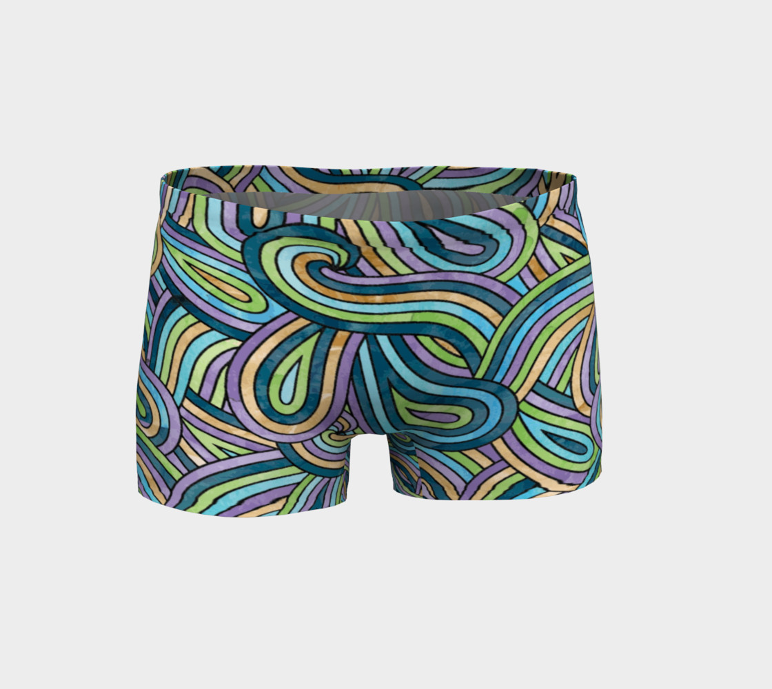 Abstract Swirls Pattern Shorts preview #1